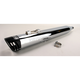 Chrome 4 in. Racing Series Single Slip-On Muffler - HD00175