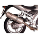 Round Slip-on Muffler with Polished Stainless Steel Muffler Sleeve