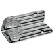 Chrome Machine Head Saddlebag Latch Covers - C1005-C