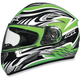 FX-100 Green Multi Helmet