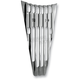 Chrome Finned Frame Filler Grill - C0026-C
