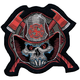 Fireman Skull Mini Embroidered Patch - MN32030