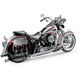 Chrome True Dual Crossover Exhaust System - S3-443