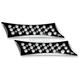 Black Saddlebag Latch Covers - 03-527