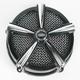 Black/Chrome Hi-Five Mach 2 Air Cleaner Kit - 9534