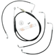 Black Vinyl Handlebar Cable and Brake Line Kit for Use w/18 in. - 20 in. Ape Hangers - LA-8010KT-19B