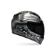 Black/Silver Vortex Monarch Tonal Helmet