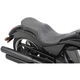 Black Flame Stitch Low-Profile Touring Seat - 0810-1608
