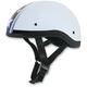 Pearl White Star FX-200 Slick Beanie-Style Half Helmet