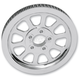 Chrome 1 in. 10-Spoke Rear Pulley - 1201-0542