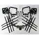 Black Nerf Bars w/Plate Heel Guards - Y041037BL