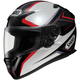 RF-1100 Chroma Black/Silver/Red Helmet