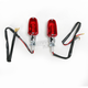 Oblong Dual Filament Marker Lights w/Red Lens - 25-8307CM