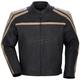 Coaster Air II Leather Flat Black/Tan Jacket