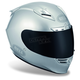 Metallic Silver Star Solid Helmet - Convertible To Snow