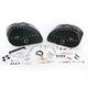Desperado Rigid-Mount Teardrop Saddlebags w/Integrated LED Marker Lights - 3501-0462-LES