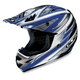 AC-X3 Option Helmet /Adult/Blue/Blue/Silver/White/Female/Male