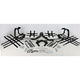 Black Nerf Bars w/Net Heel Guards - Y041078BL