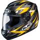 Black/Yellow/Silver Thunder CS-R2 Helmet