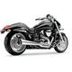 Chrome Tri-Pro 2-Into-1 Exhaust - 3481