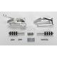 Polished Classic Solid Billet Aluminum Forward Controls - 100-5311