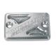 Anodized Billet Aluminum Front Brake Reservoir Cover - 21-207
