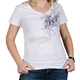 Womens White/Purple Scroll T-Shirt