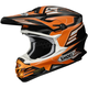 Black/Orange/White VFX-W Werx TC-8 Helmet