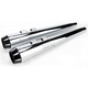 4 in. Megaphone Slip-On Mufflers w/2 1/2 in. I.D. Performance Baffles - FLH-517RL