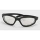Black C-1 Performance Sunglasses w/Clear Mirror Lens - C-1BK/CLM