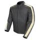 Black/Ivory Speedway Leather Jacket