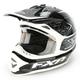 Black/White Warp Blade Super Lite Helmet