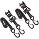 Black/Red 1 in. Ratchet Tie Downs - 10-0553