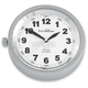 Silver Anodized Snap Back Classic Series Clock w/White Face - SB-81000