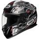 RF-1100 Hadron 2 Black/Silver/Red Helmet