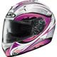 White/Pink/Black Lash IS-16 Helmet