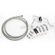 Custom Sterling Chromite II Designer Series Build Your Own Braided Stainless Steel Dual Disc DOT Brake Line Kit with 7 foot Brake Line - 390535A