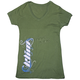 Womens Green Kute T V-Neck T-Shirt (Non-Current)