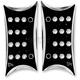 Black Rectangular Billet Passenger Floorboards - 06-831