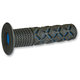 Black/Blue 930 ATV Grips - 930BLBKOE