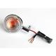 Clear Lens/Amber Bulb Turn Signal Assemblies - 25-4105C