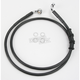 Front Extended Length Black Vinyl Braided Stainless Steel Brake Line Kit +6 in. - 1741-2873