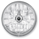 7 in. Diamond-Cut Trillient Halogen Headlight w/Black Dot - T70304