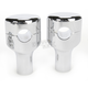 Chrome 3 1/4 in. Smooth Risers for 1 in. Handlebars - LA-7402-03