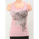 Womens Pink Lace Trim Tank