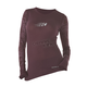 Womens Plum Burnout Long Sleeve T-Shirt