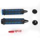 Black/Blue Braided Grips - 6335