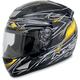 Black Yellow Line FX-95 Helmet
