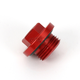 Aluminum Red Anodized Oil Filler Plug - 24-190
