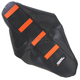 Black/Orange Ribbed Seat Cover - 0821-1794